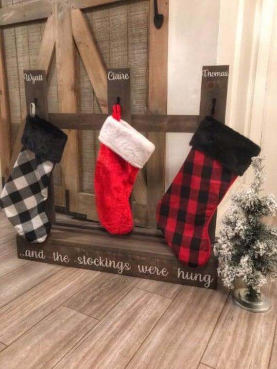 Christmas Stocking Holder Stand.Christmas Stocking Holder Stocking Stand Stocking Hanger Stocking Were Hung Stocking Display Christmas Mantel No Mantel Stocking