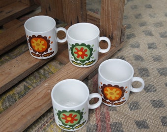 Cups coffee Pagnossin - porcelain - Vintage - Made in Italy.