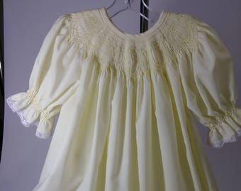 Yellow 3T hand smocked Bishop dress ready for Easter