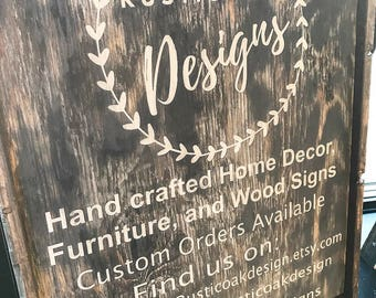 Customized Business Wooden Sign