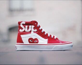 Custom Supreme Vans (Supreme shoes d9c7611d4