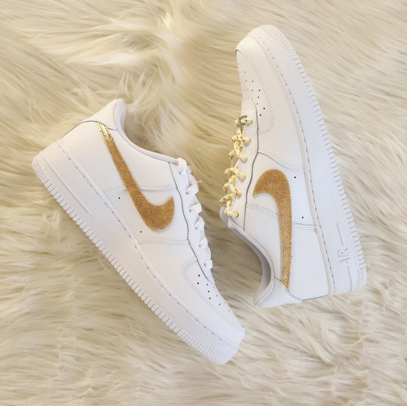Nike Air Force 1 gold glitter  8a2a9b7bc