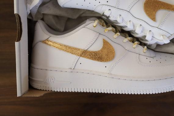 Nike Air Force 1 Champion Gold glitzern glänzend Nike AF1