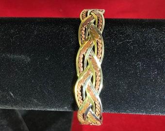 Vintage-Bracelet-Cuff-Jewelry-Accessories-Woven-Copper-Gold-Silver