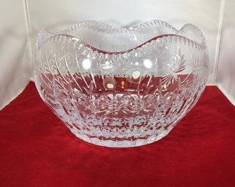 Vintage-Bowl-Red-Glass-Arcoroc-France-Serving Ware-Glassware-Home Decor