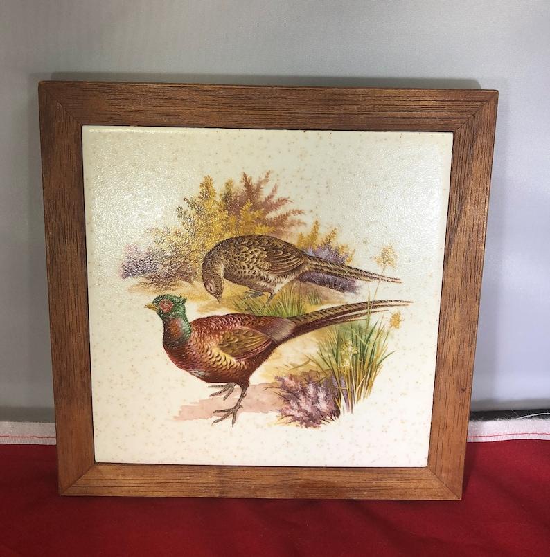 Vintage-Trivet-Creations by Deede-Pheasant-Ducks-Birds-Kitchen Decor-Home Decor