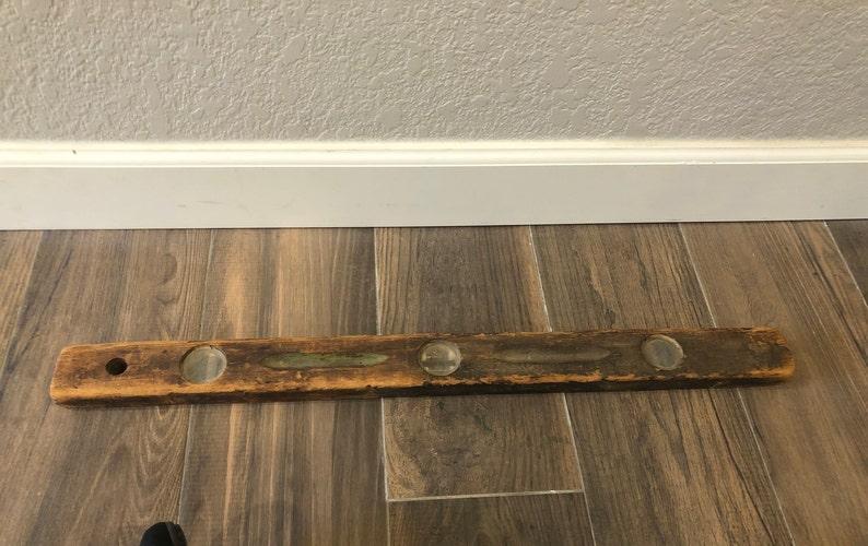 Vintage-Level-Tool-Primitive-Brown-Collectibles-Home Decor