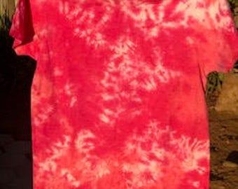 tie dye girl power pink t-shirt