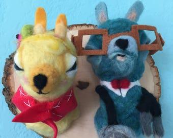 Custom Felted Llamas