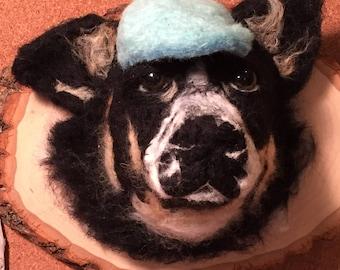 Custom Felted Dog