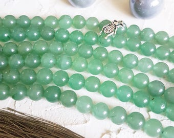 8mm aventurine beads, Yoga beads, Green beads, Beads for bracelet, Gemstone beads, Mala beads, Semi precious beads, Round beads, Full strand