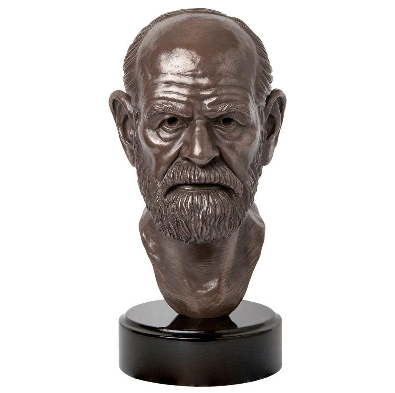 b8f876311 Sigmund Freud Skulptur / Büste, Begründer der Psychoanalyse (für  Bücherregal, Bürotisch, home Bibliothek, etc.)
