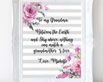 Grandma Mothers Day Gifts For Grandmother Gift Birthday Personalized Ideas From Granddaughter Grandson