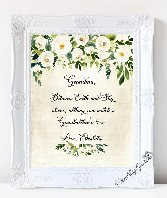 Grandma Mother S Day Gifts For Grandma Grandmother Gift Etsy