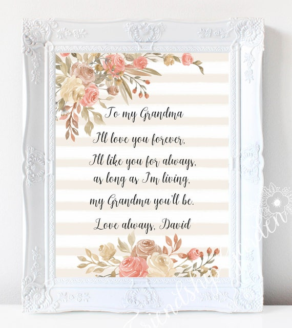 Mother S Day Gift For Grandma Gifts Grandmother Gift Etsy