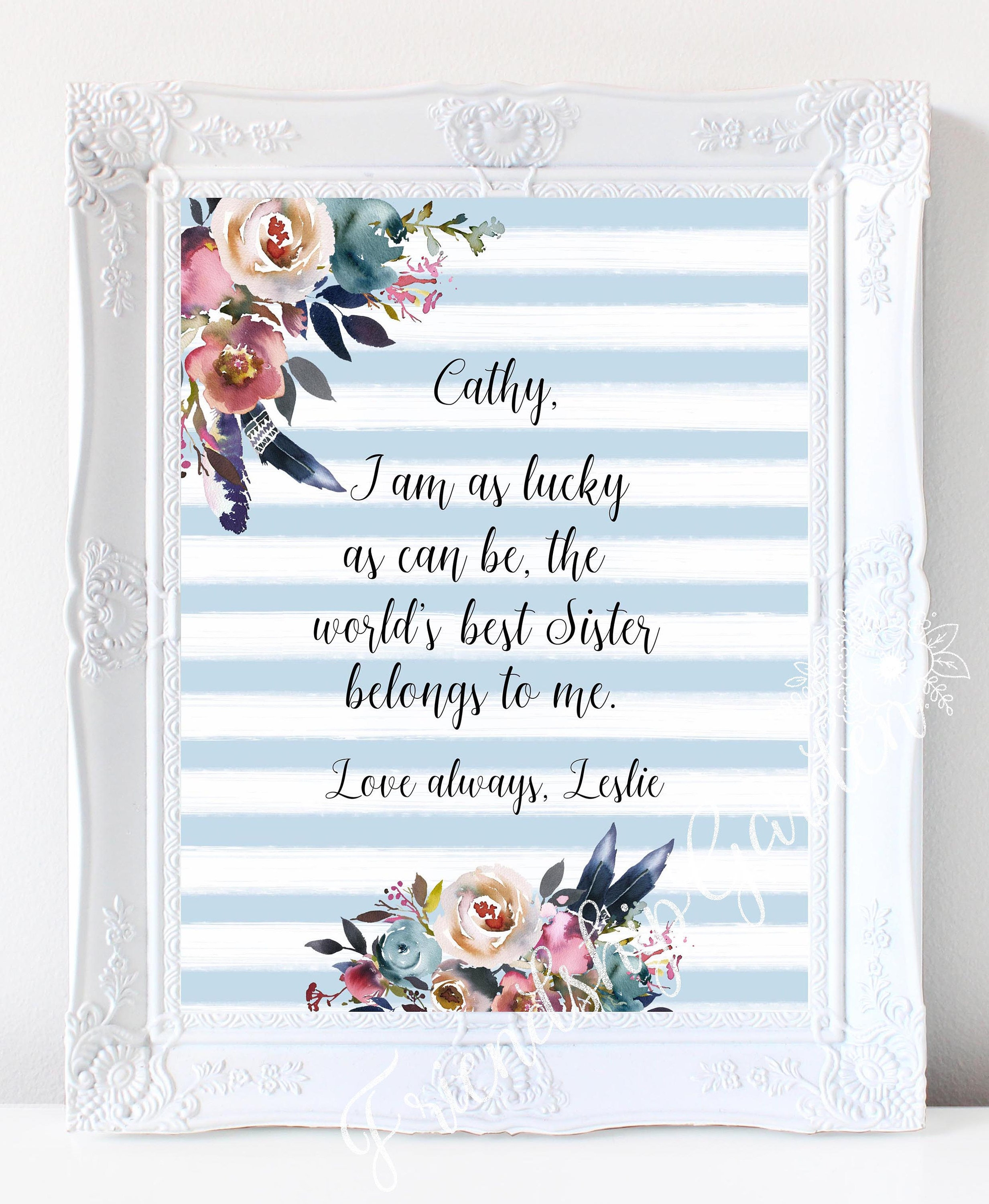 Sister Gift for Sister Personalized Sister Gifts Sister   Etsy