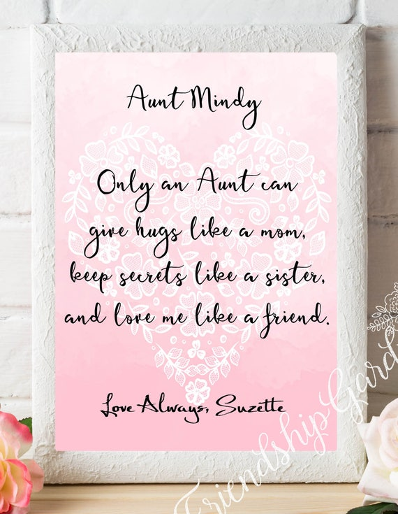 Christmas Gift Aunt Gifts Personalized Auntie Gift From Nephew Etsy