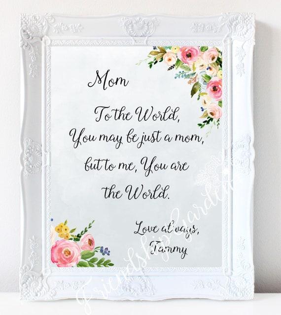 Mom Christmas Gift Mom Gift Personalized Mom Birthday Mom From Etsy