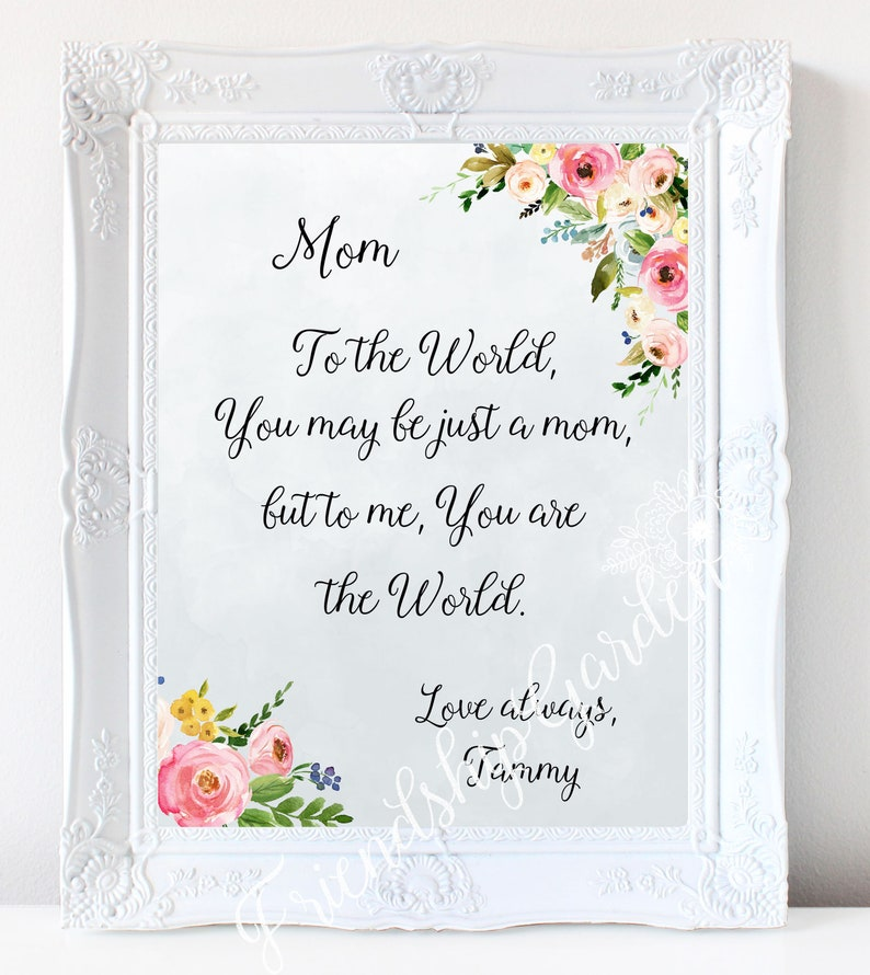 Mom Christmas Gift Personalized Birthday From