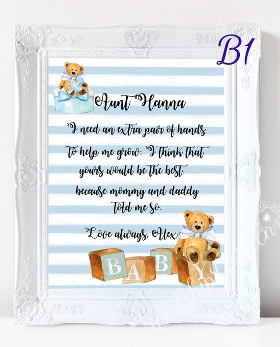 Auntie Gift Personalized Aunt Aunt Christmas Aunt Birthday Aunt Gift Form Nephew Aunt Gift From Niece New Aunt Gift Idea Aunt Wall Art