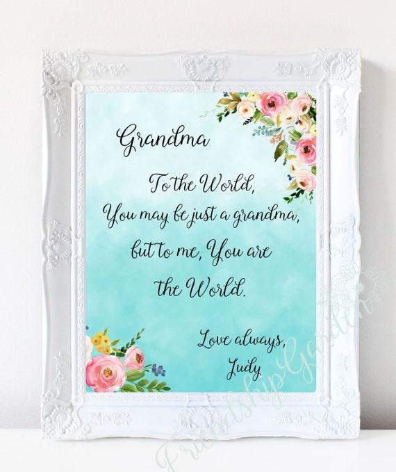 Christmas Gift For Grandma Personalized Birthday