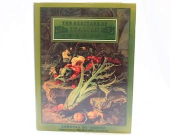 The Heritage of Italian Cooking by Lorenza De' Medici, Cookbook, Vintage Cookbook, Coffee Table Book
