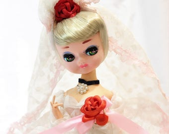 Vintage Bradley Doll in a Wedding Dress