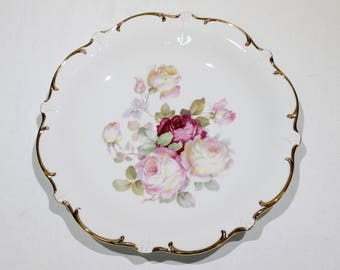 """Vintage Antique Rose Schumann Arzberg Germany 12"""" Plate, Platter, Collectible Plate, Decorative Plate"""