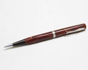 Vintage Waterman's Red Marble Mechanical Pencil 1930's