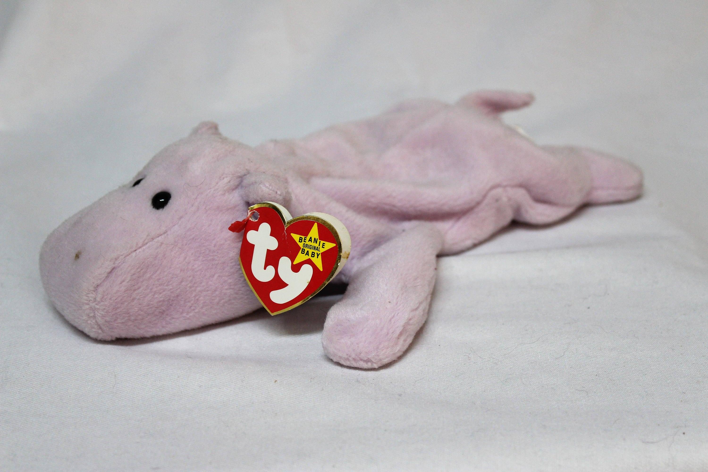 Ty Beanie Baby Happy the Hippo  c91a97754b8