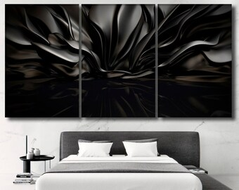 Black Wall Art Etsy