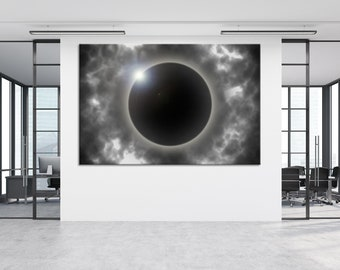 Great American Eclipse Canvas Set 2017 Total Eclipse Print 2017 Eclipse Wall Art Eclipse Photography Total Eclipse Canvas Trio