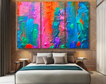 colorful wall art colorful wall decor bedroom wall art bedroom wall decor abstract wall art abstract wall decor printable artwork modern art - Colorful Bedroom