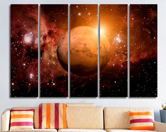 Mars Solar System Mars art Mars canvas Mars decor Mars home decor Mars photo Mars poster Mars print Mars wall art Mars wall decor Space deco