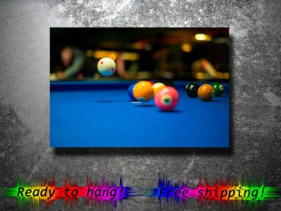 Billiards Pool wall art Billiards wall art canvas Pool wall | Etsy