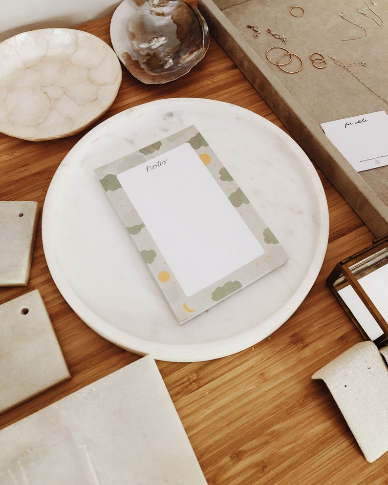 Cloud Notes \u2022 Daily Organiser \u2022 Productivity Planner \u2022 To do list \u2022 Desk Planner Pad \u2022 Alja Horvat Notepad