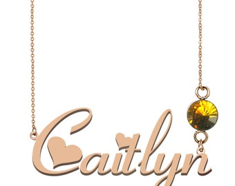 014acc079 Silver Name Necklace, Ivy Name Necklace, Caitlyn Name Necklace Best  Christmas Gift Idea for Women Girls Her