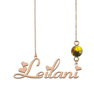 10k Name Plate Necklace Saul Name Necklace Hawaiian Name Necklace Best Christmas Gift Idea for Women Girls Her