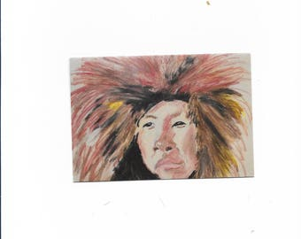 western art in print or a note card