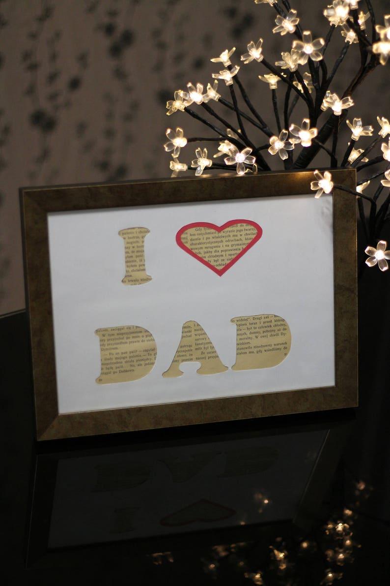 Ich Liebe Papas Geburtstag Plakat Geschenk Fur Papa Geschenk Etsy