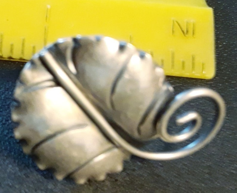 Sterling Silver Screw Back Earrings Vintage Sterling Earrings Leaf Earrings
