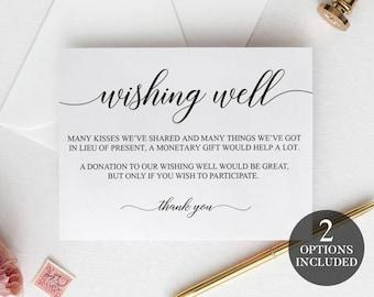 Wishing Well Cards | Printable Wedding Wishing Well | Printable Wishing Well Cards | Printable Wishing Well Poem | Wishing Well Inserts