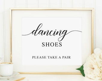 7491eb369dea3a Wedding Dancing Shoes Sign