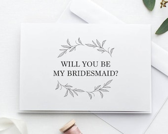 Will You Be My Bridesmaid Card | Printable Bridesmaid Proposal Card | Be My Bridesmaid Card | DIY Bridesmaid Card, Printable Bridesmaid Card