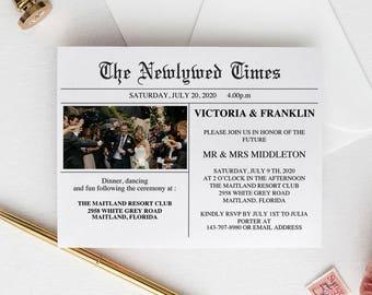 Newspaper Wedding Invitation