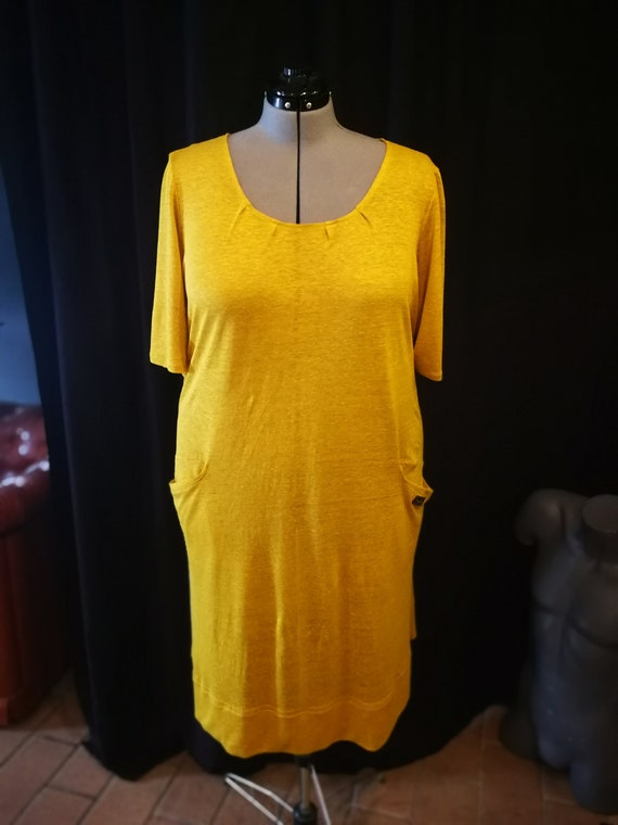 Trendy Plus Size Summer Dresses for Women Yellow Casual Oversize Dress  Modern Plus Size clothing