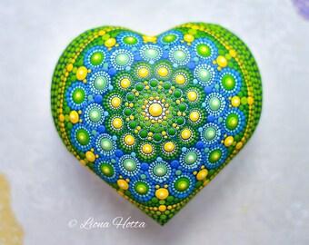 Selenite healing and meditation heart mandala