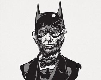 df9da12c4 Caped Emancipator | Abraham Lincoln | Men's T-Shirt | Superhero | Funny |  President | History
