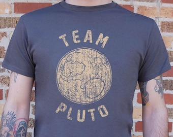 036c6bcf8 Team Pluto [Planet] Men's & Women's T-Shirt | Space + Astronomy Gifts | Planet  Pluto Shirt | Planets | Science | Celestial | Galaxy