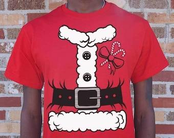 e6e0a90823 Santa Claus Costume [Christmas] Men's T-Shirt | Holiday | Funny | Unisex